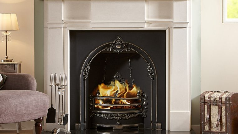 limestone fireplace kensington