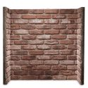 Rustic Red Brick Fireplace Chamber