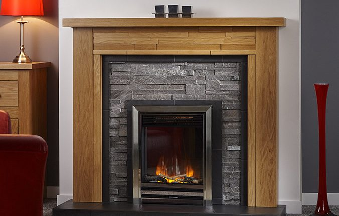 timber fireplace lineare